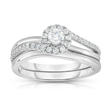 .50 CT. T.W. Diamond Engagement Set in 14k White Gold (HI, VS)