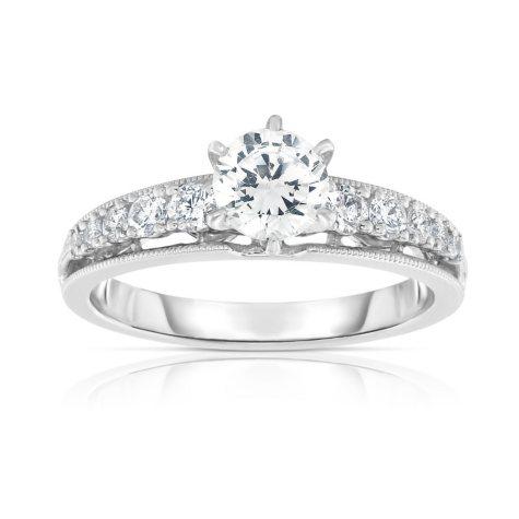 1 CT. T.W. Diamond Engagement Ring in 14K White Gold (HI, VS)