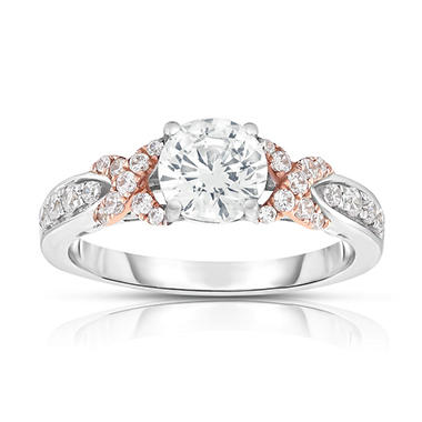 1 3/8 CT. T.W. Diamond Engagement Ring in 14K Pink and White Gold (HI, VS)