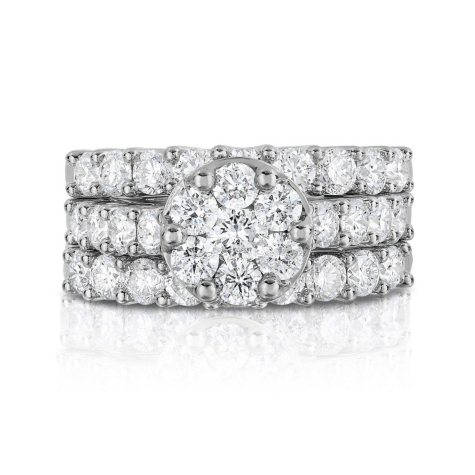 2.95 CT. T.W. Composite Engagement Ring in 14K White Gold