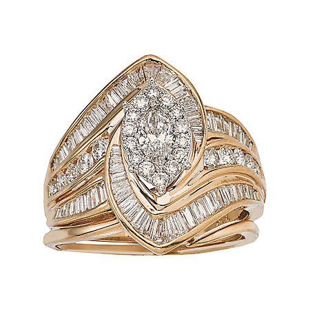 2.00 CT. T.W. Diamond Marquise Ring in 14K Gold (HI, I1)