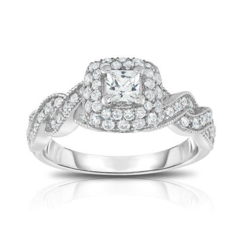 .75 CT. T.W. Diamond Engagement Ring in 14K White Gold (HI, VS)
