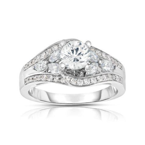 1.5 CT. T.W. Diamond Engagement Ring in 14K White Gold (HI, VS)