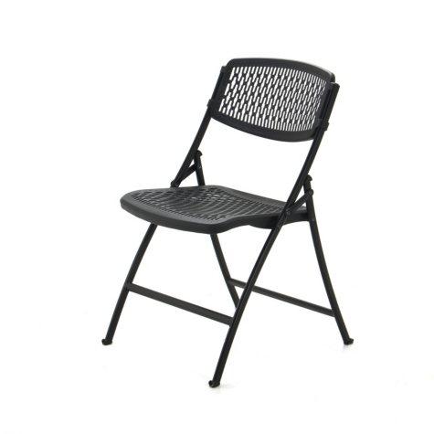Mity Lite Flex One Folding Chair, Black, Choose a Quantity