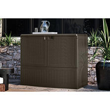Suncast 195-Gallon Backyard Oasis Storage and Entertaining Station
