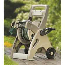 Suncast 175 ft. Slide Trak Hosemobile Hose Reel Cart - Taupe