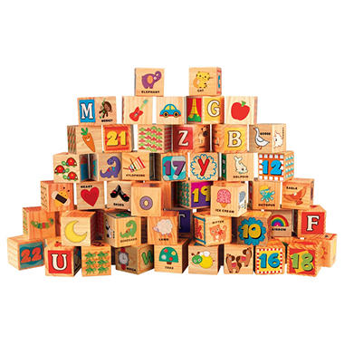 Wooden Blocks Set with Storage Tub - Blocks