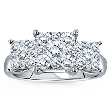 1.00 CT. T.W. Unity Diamond Engagement Ring in 14K White Gold (I, I1)