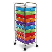 Seville Classics 10 Drawer Cart (Mulitple Colors)