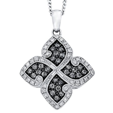 Silvermist 0.50 ct. t.w. Diamond Four-Leaf Pendant in Sterling Silver (I, I1)
