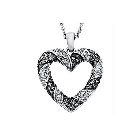 Silvermist 0.25 ct. t.w. Diamond Heart Pendant in Sterling Silver (I, I1)