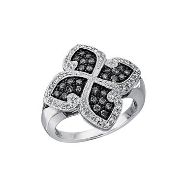 Silvermist 0.50 ct. t.w. Diamond Four-Leaf Ring in Sterling Silver (I, I1)