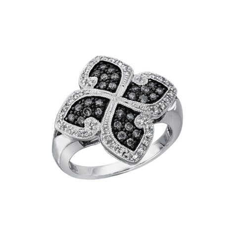 Silvermist 0.50 ct. t.w. Diamond Four-Leaf Ring in Sterling Silver (I, I1)