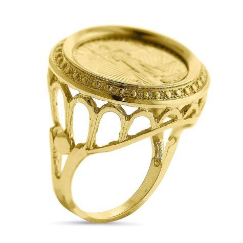 Vintage American Eagle Gold Ring