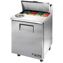 True 1-Door Stainless Steel Sandwich/Salad Prep Unit - 27""