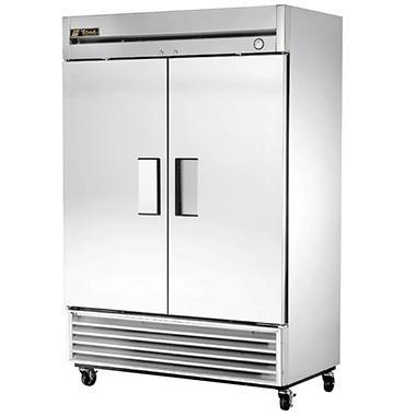 True Foodservice 2-Door Stainless Steel Reach-In Freezer - 49 cu. ft