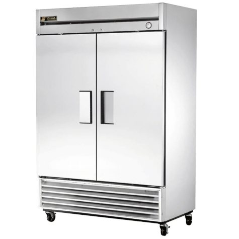 True Foodservice 2-Door Stainless Steel Reach-In Freezer - 49 cu. ft.