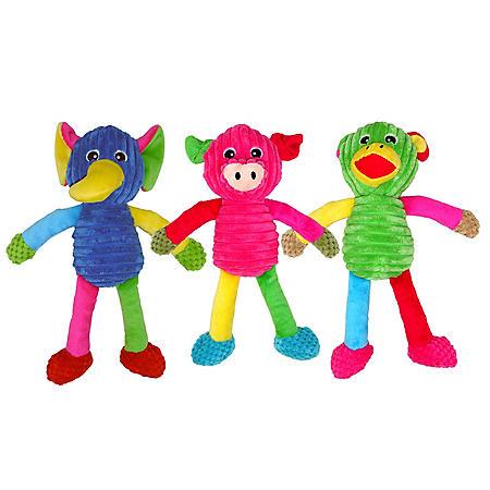 Mugsy's Plush Dog Toys, Zoo Animals (3 pk.)