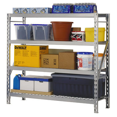 Muscle Rack 4 Level Storage Rack with Zinc-Plated Wire Decking