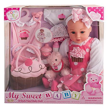 "18"" Vinyl Baby Doll - Cup Cake Cutie (A)"
