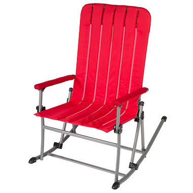 Portable Rocking Chair   Red