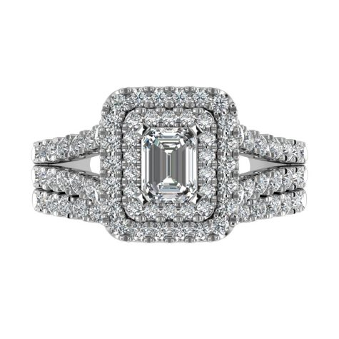 1.95 CT. T.W. Diamond Engagement Ring Set in 14K White Gold
