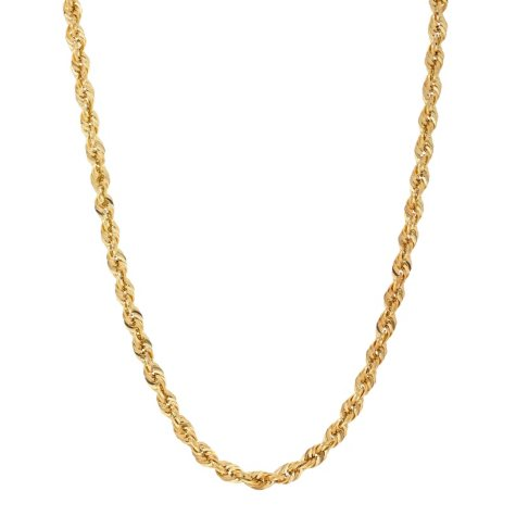 "14K Yellow Gold 24"" Rope Chain"