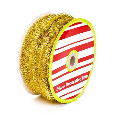 Holiday Tinsel Ribbon - Various Colors