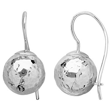 Royale Gold 14k White Gold 10mm Ball Dangle Earrings Sam S Club