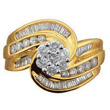 1.25 ct. t.w. Diamond Swirl Ring in 14k Yellow Gold (I, I1)