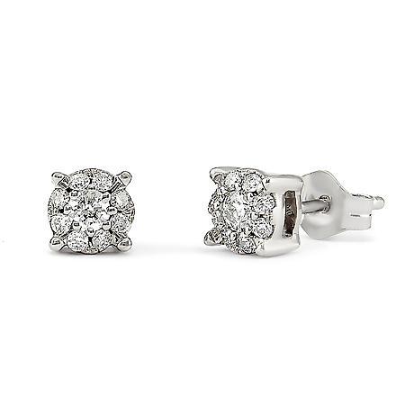 .20 CT.TW. Round Diamond Composite Stud Earring in 14K White Gold HI,I1