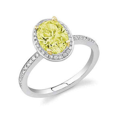 1.26 ct. t.w. Yellow Diamond Engagement Ring (H-I, I1)