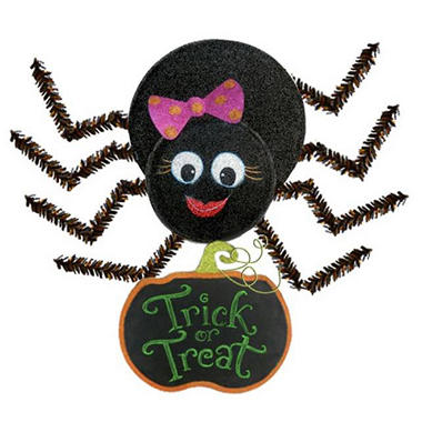 Friendly Spider Chalkboard Wall Hanging - Girl - Original Price $19.98 Save $10.17