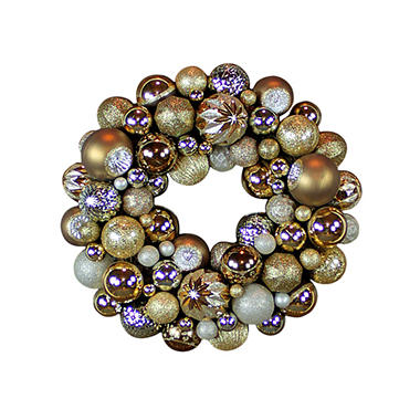 Shatterproof Ornament Wreath - Choose Your Color