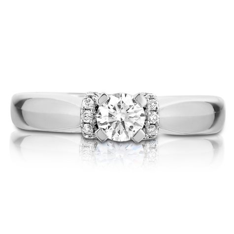0.45 CT. T.W. Diamond Engagement Ring in 14K White Gold (I-SI2)