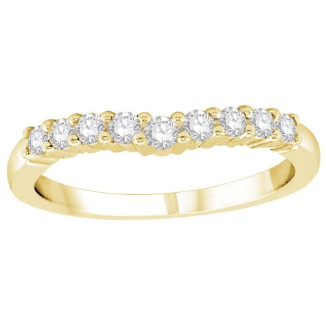 0.32 CT. T.W. Diamond Enhancer Band in 14K Yellow Gold (H-I, I1)