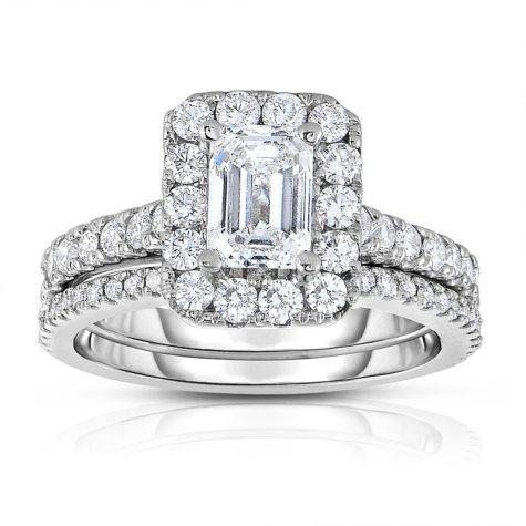 2.20 CT. T.W. Diamond Wedding Set in 14k White Gold