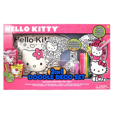 Hello Kitty 2-in-1 Doodle Deco Set