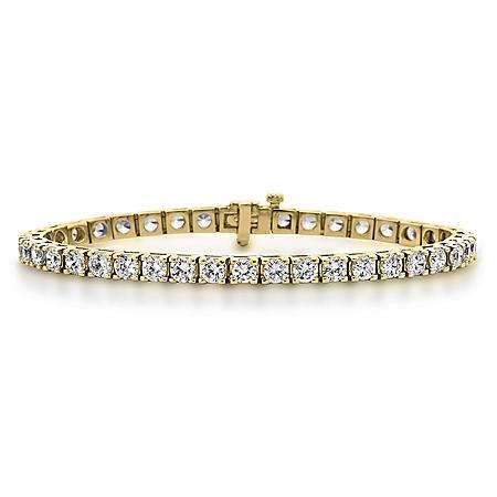 4.95 CT. T.W. Diamond Tennis Bracelet in 14K Yellow Gold (H-I, I1)