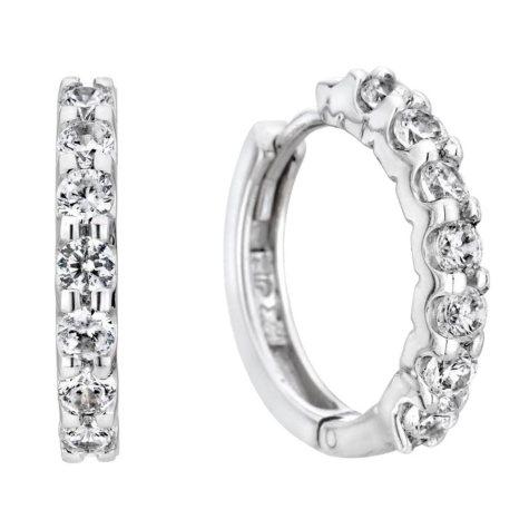 0.46 CT. T.W. Diamond Hoop Earrings in 14K Gold (H-I, I1)