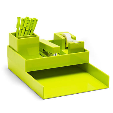 Poppin All Set Desk Collection Lime Green Choose An Item