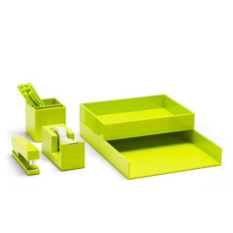 Poppin All Set Desk Collection, Lime Green, Choose an Item