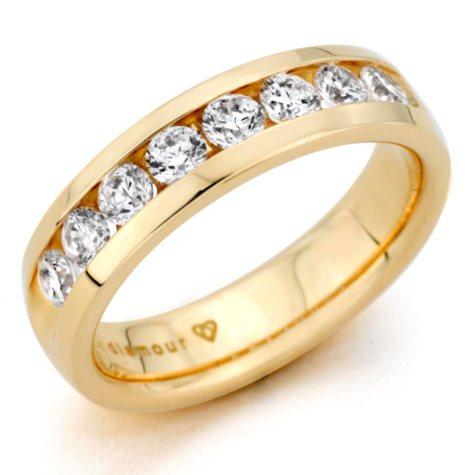 0.46 CT. T.W. Men's Diamond Band in 14K Yellow Gold (H-I, I1)