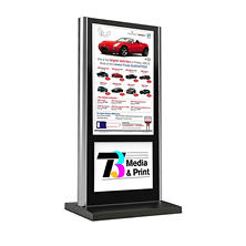 Gallery™ Powered Full-Feature Portrait Flat Panel Digital Signage Kiosk Display With Logo Panel, 46""