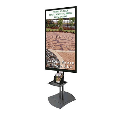 Gallery™ Powered Full-Feature Portrait Flat Panel Digital Signage Center Display, 46