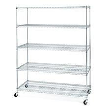 Seville Classics 5-Level Large Chrome Shelving Unit