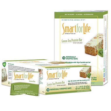 Smart for Life Green Tea Protein Bars - 12 ct. box
