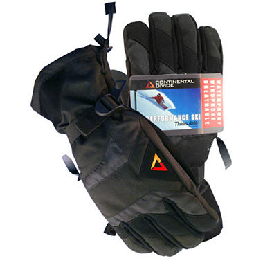 Continental Divide Men's Ski Glove - Black