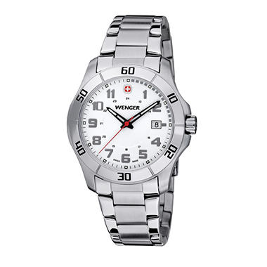 Wenger Alpine Watch with Stainless Steel Bracelet