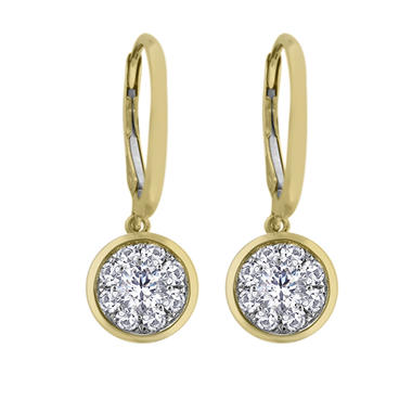 0.62 CT.T.W. Unity Diamond Earrings in 14K Yellow Gold (I, I1)